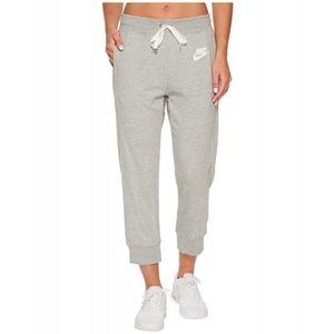 Nike Women's Gray Ankle Sweatpants